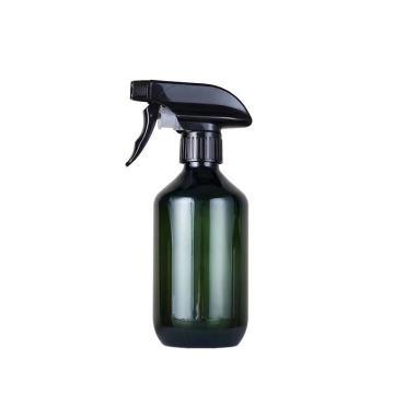 250Ml 500Ml Transparent Black Green Amber Water Detergent Plastic Pet Spray Bottle With Pump Trigger Sprayer