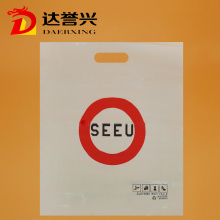 LDPE Die Cut Bag with Red Logo