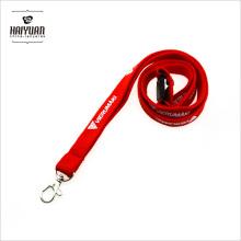 Cordão de tubo vermelho Pms com logotipo branco em 1 lado