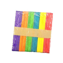 Factory sale 114mm*10mm*2mm colorful wooden craft ice cream stick for children diy
