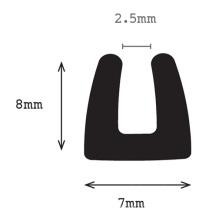 EPDM Montage en caoutchouc (canal U)