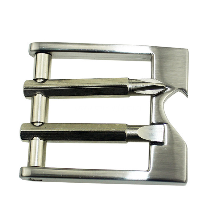 Double Buckle Square Shape Belt Buckle