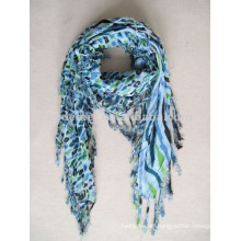 Viscose print square scarf new design