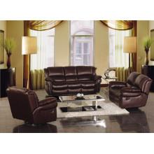 Sofá de salón con sofá moderno de cuero genuino (918)