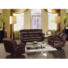 Canapé de salon avec un ensemble de canapé moderne en cuir véritable (918)