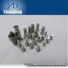 CNC girando / CNC machined peça pino e parafuso