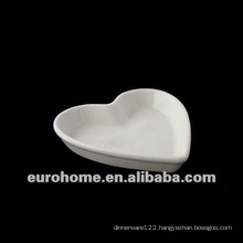 Peach shape airline porcelain small plates dishes with flat base for hotel restaurant-eurohome AL 120