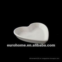 Peach forma de porcelana porcelana pequenos pratos pratos com base plana para hotel restaurant-eurohome AL 120