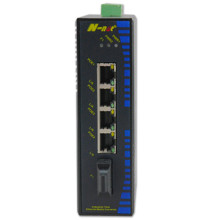 Industrial Unmanaged 10 / 100M PoE Fiber Switch