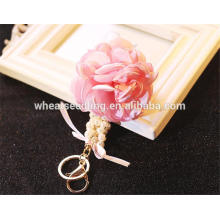 Weibliche klassische zarte schöne Schlüsselkette Stoff Blume keychain