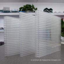 Polycarbonat Multiwall Blatt 4-Wall Sheet 100% reines Material, 50 Micro UV 10 Jahre Garantie