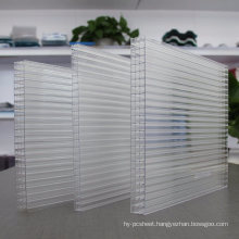 Polycarbonate Multiwall Sheet 4-Wall Sheet 100% Virgin Material, 50 Micro UV 10 Years Warranty
