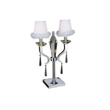 Lujo de plata de acero inoxidable lámpara de mesa decorativa (GT7010-2)