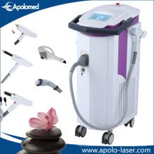 Le plus professionnel trois Mutifunctional manipule la machine d'épilation de laser de chargement initial