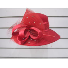 Sombreros de iglesia de invierno de fieltro de lana para mujer