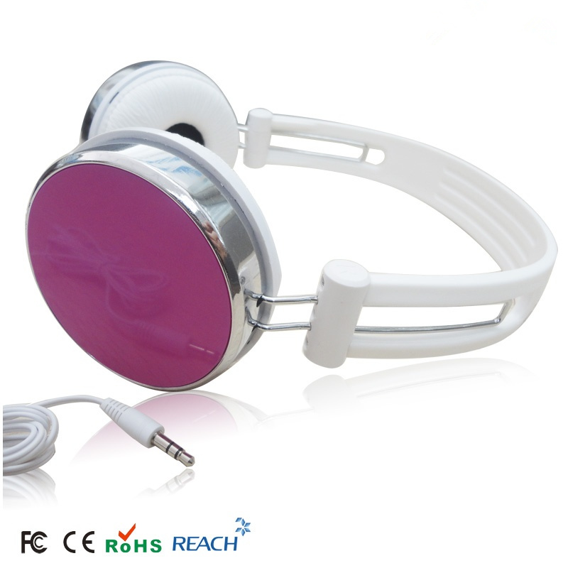 pink over head earphone