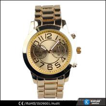 Cuarzo reloj de acero inoxidable de vuelta para las mujeres