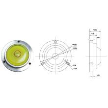 Мини-круглый пузырьковый уровень с металлическим основанием