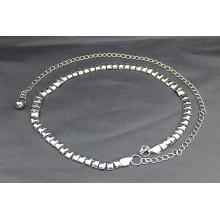Chaîne de ceinture en métal argent décoratif de mode