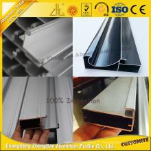 Extrusion en aluminium anodisée pour le Cabinet de cuisine en aluminium