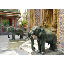 Gartendekoration im Freien Metallbronze Thailand Elefantstatue