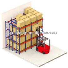 Estructuras temporales de almacén, la calidad del equipo de almacén empuja hacia atrás la estantería