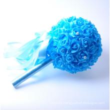 Romántico elegante ramos de novia fina ramo de flores artificiales