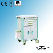 Whole ABS Plastic Mobile Hospital Medical Emergency Trolley (P-4)