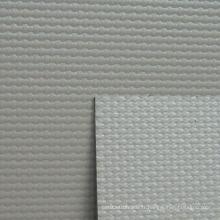 Tissu en rideau en PVC en fibre de verre en couleur grise