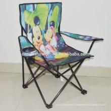 Silla plegable de camping al aire libre, silla de los cabritos del barato metal de usd plegable silla niños
