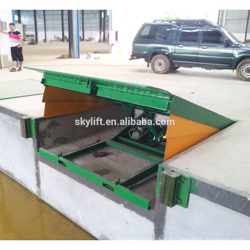 Hydraulic finger skate ramp