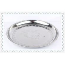 Hot Sale 30-52cm Flower Style Stainless Steel Round Plate