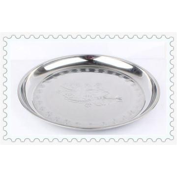 Vente chaude 30-52cm Fleur Style en acier inoxydable plaque ronde