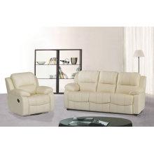 1 + 3 plazas Sofá, sofá de cuero moderno del recliner Manual tipo (GA01)