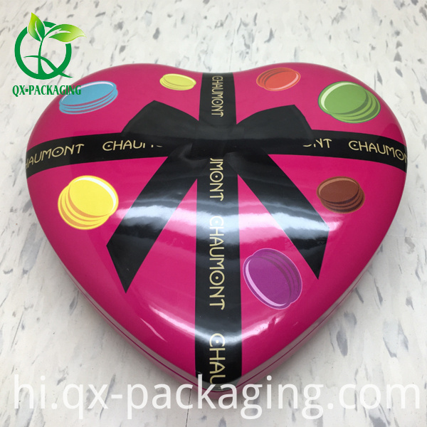 Heart Shaped Macarans Chocolate Tin Boxes