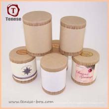 Eco-Friendly Round Paper Tubos Postales Caja de Tubos de Correo