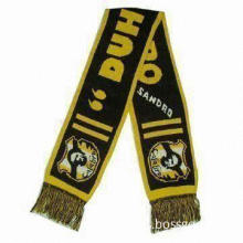 Football Scarf, Customized Designs are Welcome, Made of 100% Acrylic or Polyester