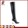 Crystal heel real leather knee good boots