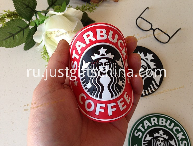Promotional Starbucks PVC Coasters