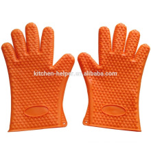 Wholesale FDA Kitchen Waterproof 5 Fingers Silicone BBQ Oven Gloves/Silicone Grill Oven BBQ Glove/Oven Mitt