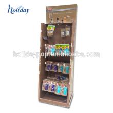 Soporte de exhibición de los soportes de la exhibición del gancho de la cartulina con la pantalla LCD