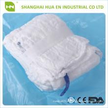 Горячая продажа Медицинская 100% хлопок стерильная упакованная брюшная марля губка с 5pcs / pack
