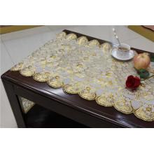 Toalhete longo do laço do vinil do PVC do ouro de 50cm * 20m faz crochê a toalha de mesa no rolo