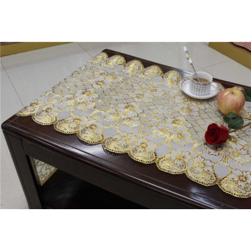 50cm*20m Gold PVC Vinyl Long Lace Doily Crochet Tablecloth in Roll