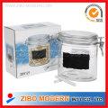 Glass Blackboard Jar with Glass Lid