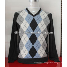 intarsia cashmere sweaters for men