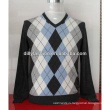 кашемир интарсия свитера для мужчин