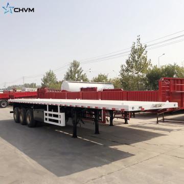 Semi-remorque de camion de conteneur de transport à plat