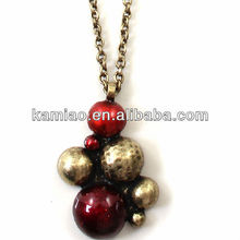 2014 fancy China zinc alloy jewelry wholesale doll pendant gold chain necklace