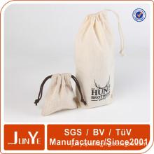 string bag cotton drawstring gift bag organic muslin printed pouch
